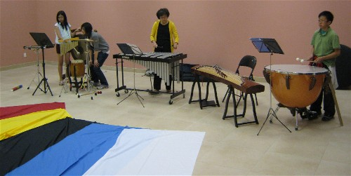 Percussion rehearsal