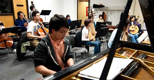 Piano Concerto rehearsal
