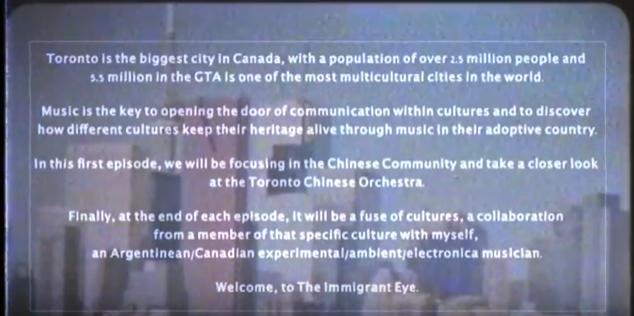 The Immigrant Eye